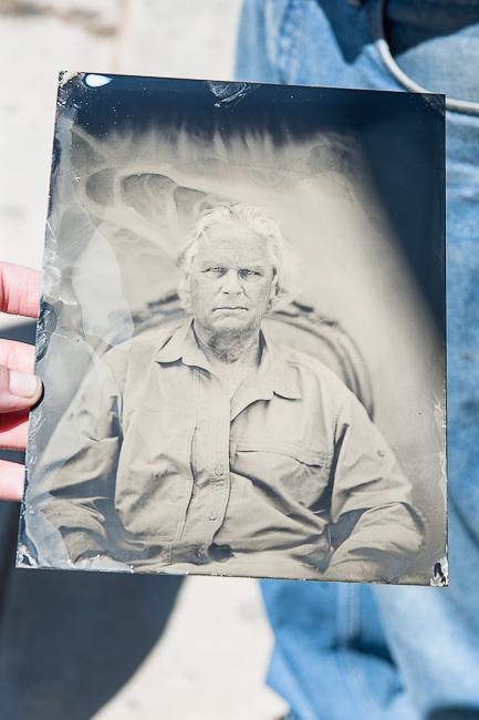 tintype of Carlos Richardson