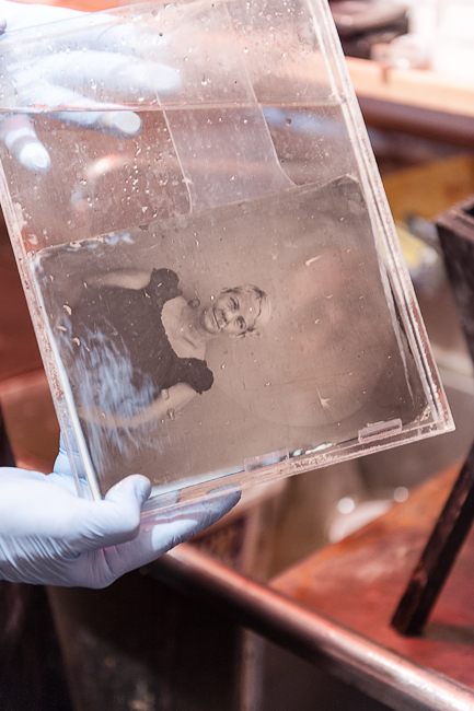 fixing a tintype in potassium cyanide